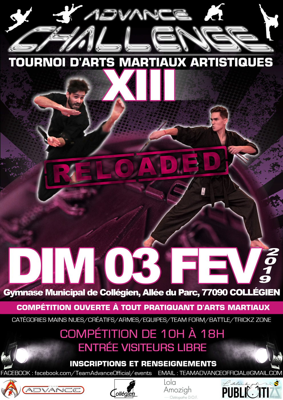 Advance Challenge XIII «RELOADED» (Fév 2019)
